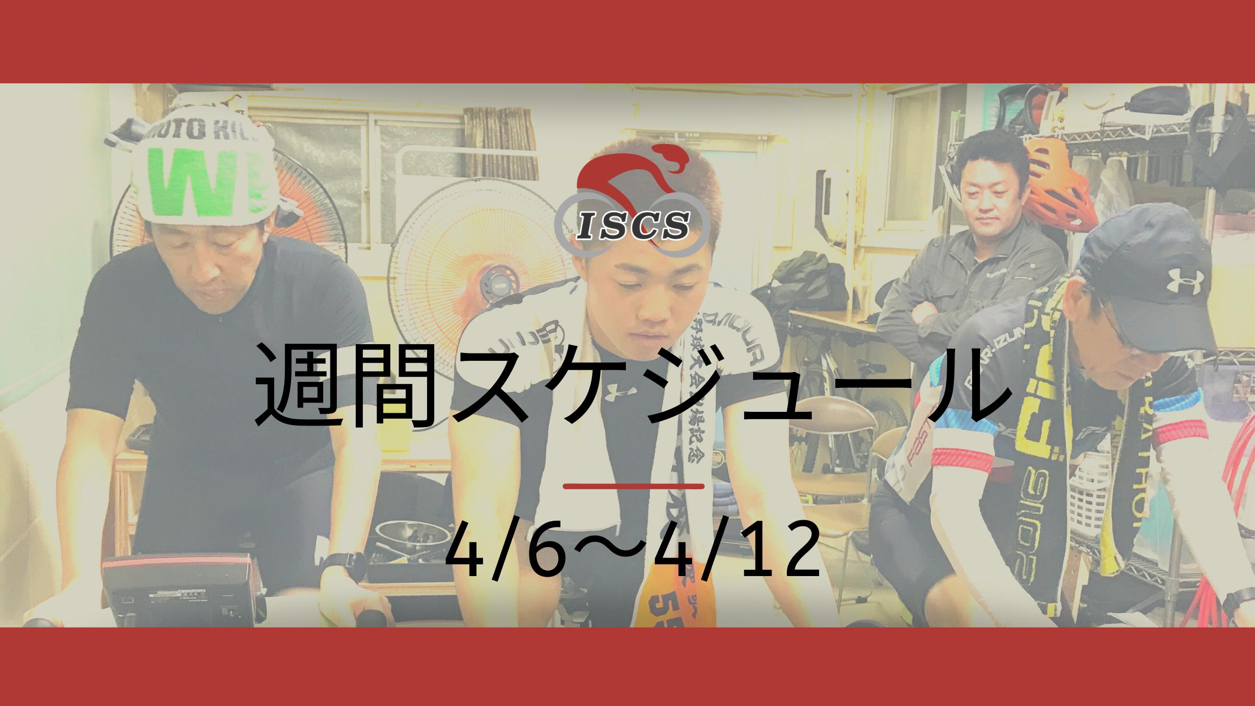 週間スケジュール4/6〜4/12