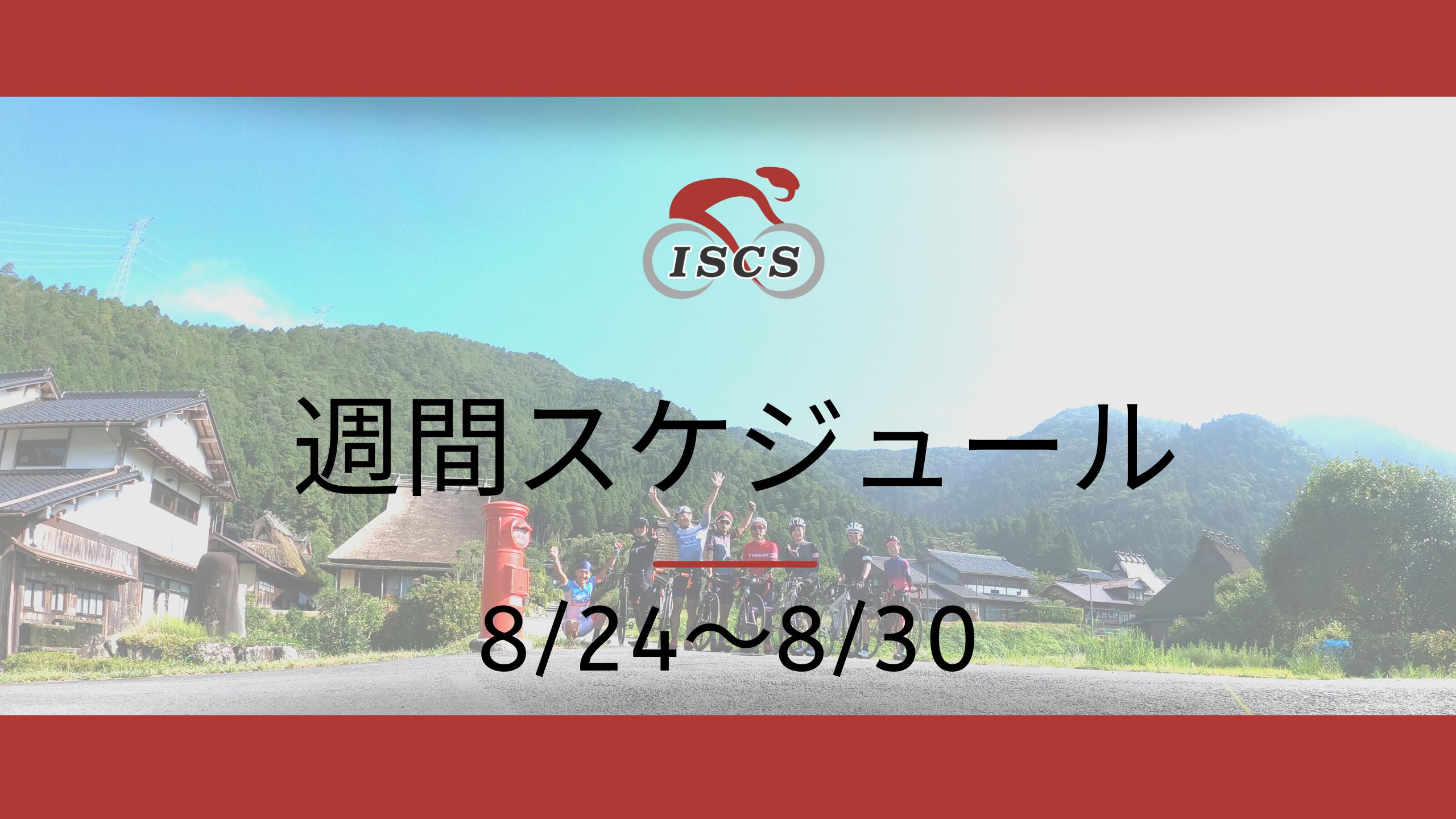 週間スケジュール8/24~8/30